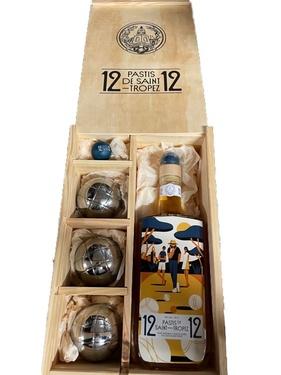 12/12 Pastis De Saint Tropez 45% 70cl Coffret Petanque