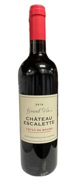 Cotes De Bourg Chateau Escalette 2016 Bio